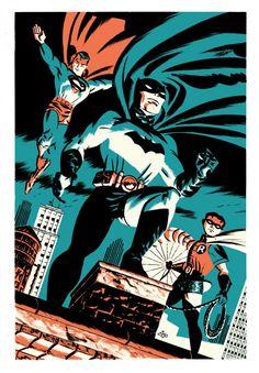 [Retrô] Super-heróis por Michael Cho | LOUCOS CABEÇA http://www.loucoscabeca.com/2014/01/retro-super-herois-por-michael-cho.html
