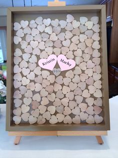 14x18 Drop Top Guestbook Unique Wedding por ACFcustoms en Etsy