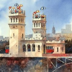 Towers by Tytus Brzozowski, fine art print/edition of 40. For more visit artist's gallery at Lumarte: http://www.lumarte.eu/en/tytus-brzozowski