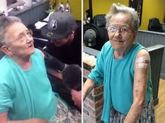 Grandma Who Went Missing Was Found Getting Her First Tattoo: Grandma Tattoos, First Tattoo, Year Old, Funny Quotes, Spirituality, Jokes, Humor, Life, Funny Phrases
