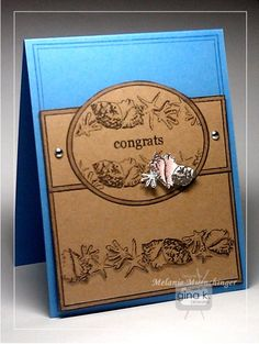 Clean & Simple Fabulous Frame and Borders Card - stampTV