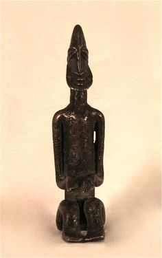 Nommo (sky god) Bearded Seated Male Figure  Dogon,