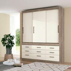 Guarda-Roupa Casal Click 3 PT 9 GV Castanho e Off White Off White, Closet, Home Decor, Drawers, Campinas, Environment, Bedroom, Full Figured, Armoire