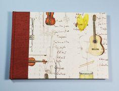 Unique gift for music fan Musician Handmade Book art Book folding guitar head