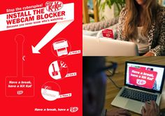 Kit Kat Gives People What They Want: A Webcam Blocker | A Lot More Than Just Promos #kitkat #directmarketing #webcam #safety #promotionalproducts