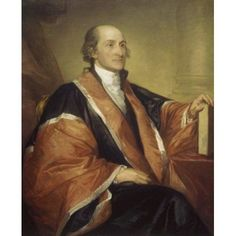 Chief Justice John Jay 1794 Gilbert Stuart (1755-1828 American) Oil on canvas US Department of State Washington DC USA Canvas Art - Gilbert Stuart (18 x 24)