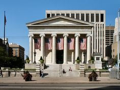 The old Montgomery County Courthouse at & Main in Downtown Dayton, one of the best greek revival courthouses in the United States. Lincoln Kennedy, Dayton Ohio, Childhood Memories, Presidents, United States, Beautiful