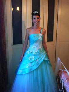 Daria in Franco Ciambella - Tiffany blue wedding
