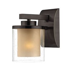 Horizon One Light Bolivian Bronze Wall Sconce Dolan Designs 1 Light Armed Glass Wall Sconc