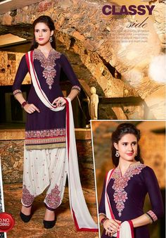 Sizzling Front Embroidery Work In This Navy Color Unstitched Cotton Patiala Suit Ladies Salwar Kameez, Patiala Salwar Suits, Cotton Salwar Kameez, Salwar Suits Online, Salwar Kameez Online, Punjabi Suits, Kurti, Ethnic Fashion, Girl Fashion