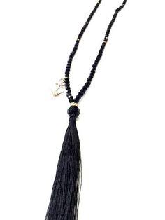 La Bella Donna - κολιε μακρυ μαυρο με φουντακι Tassel Necklace, Tassels, Jewelry, Fashion, Moda, Jewlery, Jewerly, Fashion Styles, Schmuck
