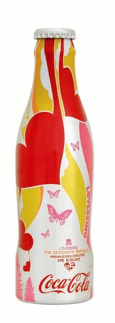 "Coca-Cola ""Magnificent 5"" (M5) aluminum bottle designed by The Designers Republic (2005)"