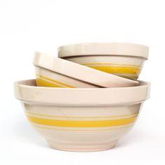 Mixing Bowls Yellow Set Of 3