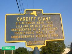 """hoaxes deception and cardiff giant Just seven years after the cardiff giant, """"the solid muldoon"""" was found in the mountains of colorado, but was once again a hoax perpetrated by george hull unlike the cardiff giant, the solid muldoon had been made out of a mixture of dust, clay, plaster, bones, blood, and meat by this time, the giant rush."""