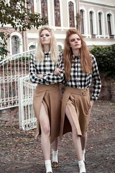 visual optimism; fashion editorials, shows, campaigns & more!: linde derickx and tuanne froemming by semih kanmaz for cosmopolitan turkey january 2015