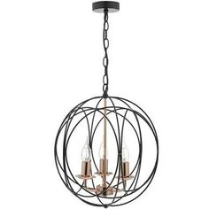 Phoenix 3-Light Globe Pendant Dar Lighting