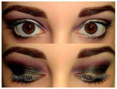 Black, Gold and Pink makeup look.  http://rachelshuchat.blogspot.ca/