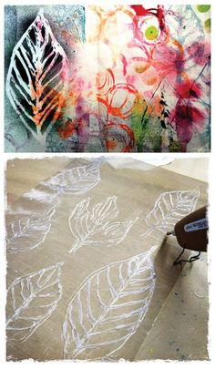Use a Glue Gun to Write on Glass!Use a Glue Gun to Write on Glass! - Muslin and MerlotDIY :: Easy hot glue gun print making (removed from printing)DIY :: Easy hot glue gun printing Hot Glue Art, Impression Textile, Glue Gun Crafts, Diy Glue, Diy Crafts, Gun Art, Art Mural, Wall Art, Art Plastique