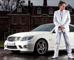 James Martin proudly stands in front of his AMG. Chef James Martin, Mr Martin, James May, Jeremy Clarkson, Paul Hollywood, I Chef, Mercedes Amg, Yum Yum, Cook