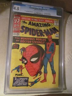 Amazing Spider-man Annual #2 CGC -4.5 DR. STRANGE SilverAge STEVE DITKO Stan Lee