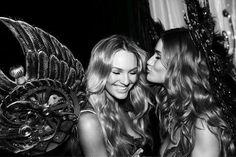 Candice Swanepoel & Rosie Huntington-Whiteley; Victoria's Secret Fashion Show