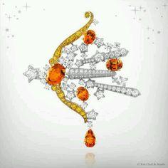 The 12 zodiac sign clips by Van Cleef & Arpels: Sagittarius 9/12