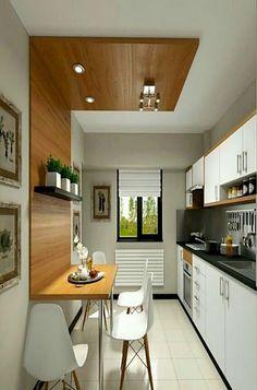 Kitchen Design Plans Tips On 86 Small Kitchen Designs Ideas 81 Simple Kitchen Design, Interior Design Kitchen, Kitchen Decor, Kitchen Ideas, Space Kitchen, Kitchen Designs, Diy Kitchen, Straight Kitchen, Small Kitchen Renovations