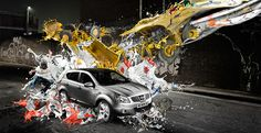 QASHQAI, silver   2008 - 2012 Taylor James, Nissan, Backrounds, Print Magazine, Photo Manipulation, 3d Design, Digital Illustration, Paris, Monster Trucks