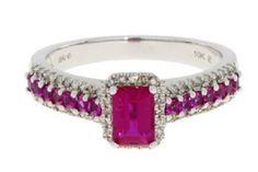 10K 1.25 Carat Ruby Diamond Ring
