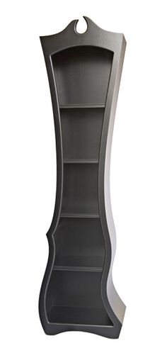 curvy bookcase - Reminds me of Alice in Wonderland, or really, just my man Tim Burton