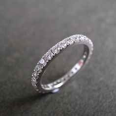 Eternity+Diamond+Wedding+Ring+in+14K+White+Gold+by+honngaijewelry,+$1840.00