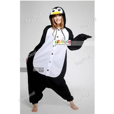 Fleece Special Harlem Shake Penguin Style Cosplay Jumpsuits