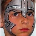 knight face paint