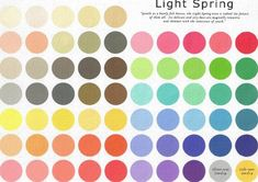 Light Spring Skin Tone Palette - the colours I should be wearing!