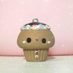 #kawaii #charms #polymer #clay #ginger #cupcake #charm