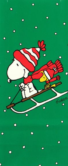 Snoopy and Woodstock Wearing Winter Hats and Scarves Sledding Downhill on a Sled Peanuts Christmas, Charlie Brown Christmas, Charlie Brown And Snoopy, Christmas Art, Snoopy Christmas Decorations, Xmas, Peanuts Cartoon, Peanuts Snoopy, Meu Amigo Charlie Brown