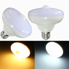 E27 12W 24 SMD 5630 Auto PIR Motion Sensor LED Infrared Energy Saving Light Bulb AC85-265V