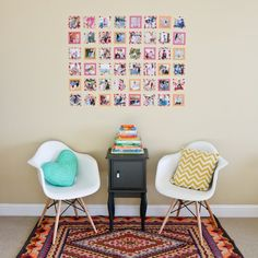 Tape the edges of your favorite snaps in washi tape for an instant-frame free gallery that adds a pop of color, too.
