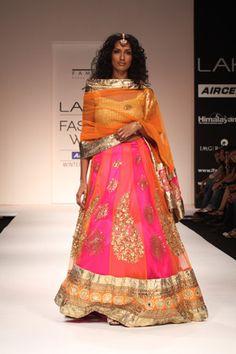 I like the colours. LakmeFashion Week Winter Festive 2011. Designer: Payal Kapoor