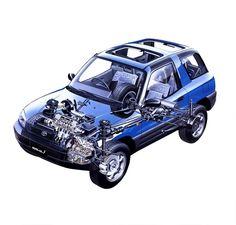 1994-1997 Toyota RAV4 3-door (JP specs) - Illustration unattributed