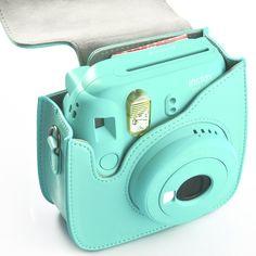 Amazon.com : Fujifilm Instax Mini 8+ Camera bag, HelloHelio Classic Vintage PU Leather Instax Camera Compact Case For Fujifilm Instax Mini 8 /8+Instant Film Camera (Mint) : Camera & Photo