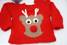 Knitted christmas sweater jumper Baby sweater by sweetygreetings, £7.80