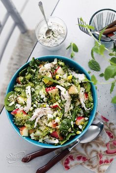 This simple Slimming World salad packed with chicken, apple and celery is refreshing and substantial, and any leftovers would make a great lunchbox filler! The quinoa in this dish is super-filling, and whether you enjoy it for breakfast, lunch or dinner, it's a great alternative to rice or couscous. http://www.slimmingworld.co.uk/recipes/chicken-and-quinoa-salad.aspx