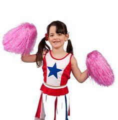 2X Handheld Poms Cheerleader Cheerleading Cheer Pom Dance Party Club Lovely