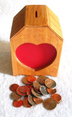 Handcrafted Wooden Bank by ticc on Etsy