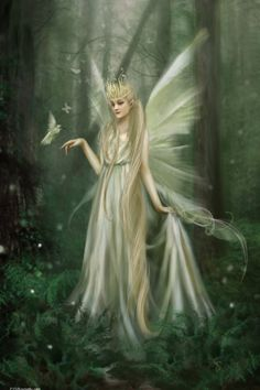 """The Fairy Queen.""""Based on Shakespeare's influence, the Fairy Queen or Queen of the Fairies was a figure from English folklore who was believed to rule the fairies and is is often named as Titania or Mab. In Irish folklore, the last High Queen of the Dao Magical Creatures, Fantasy Creatures, Fairy Dust, Fairy Tales, Kobold, Fairy Queen, Love Fairy, Beautiful Fairies, Beautiful Boys"""