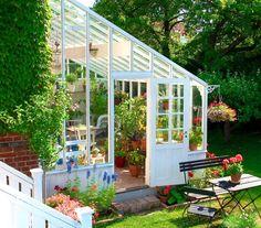 """""""Vårt växthus är bara sex steg från köket"""" - My home"""
