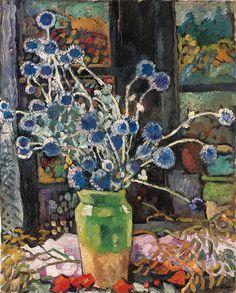 Louis Valtat (French, 1869-1952), Chardons devant la fenêtre à Choisel, 1934. Oil on canvas