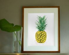 Wallstudio - | Welcome to the Tropics Collection pineapple print $75 small