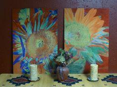 Sunflower prints on metal. Cris Fulton, Bowman, North Dakota.